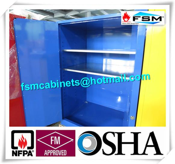 Steel Flame Resistant Cabinet Hazmat Locker For Corrosive Liquid In Chemical