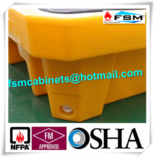 Highly Visible IBC Spill Containment Pallet HDPE For Chemical Oil Tank