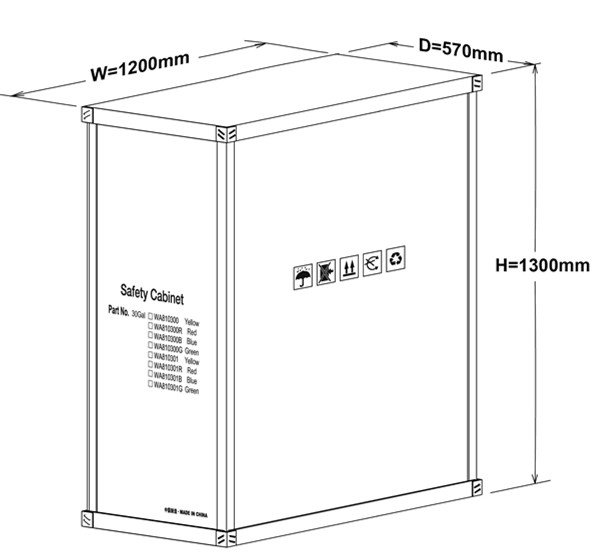 30 Gallon Chemical Storage Lockers , Safety Containers For Conbustible Liquids