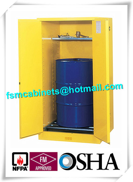 Flammable Drum Storage Cabinets , Gasoline Storage Cabinets 2 Door For Oil Tank Drum