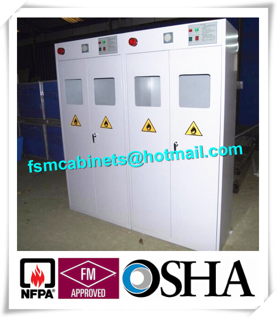Co2 Gas Cylinder Safety Storage Cabinets , Oil Drum Storage Cabinets For  Gas Cylinder