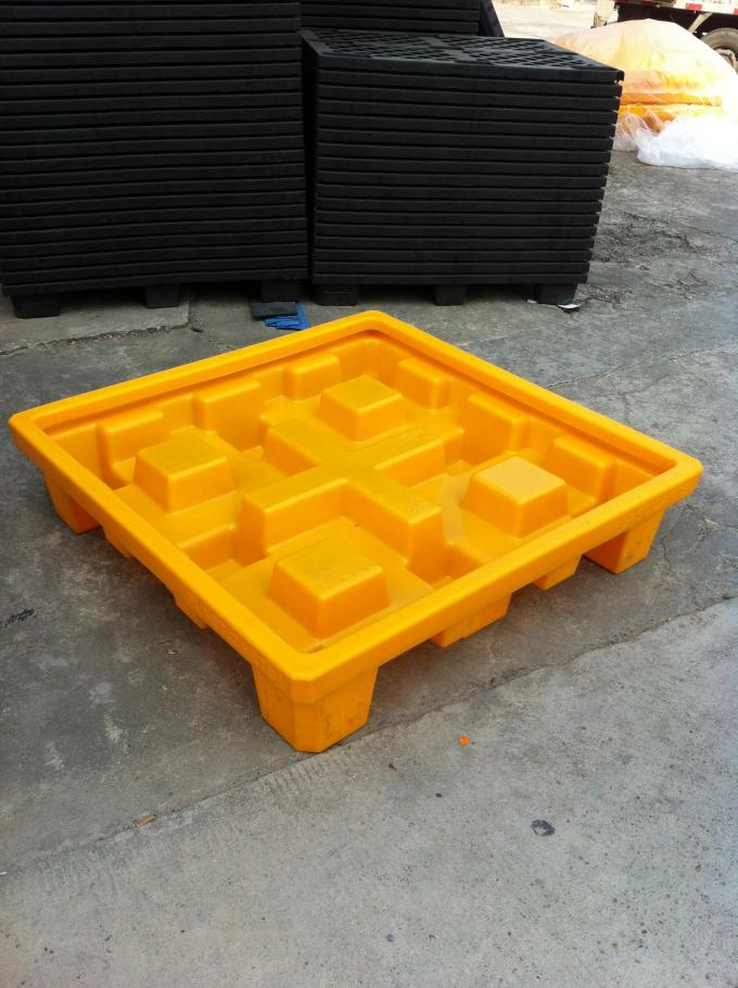 IBC Chemical Spill Containment Trays , 4 IBC Tank Safety Storage Spill Deck And Spill Pallet