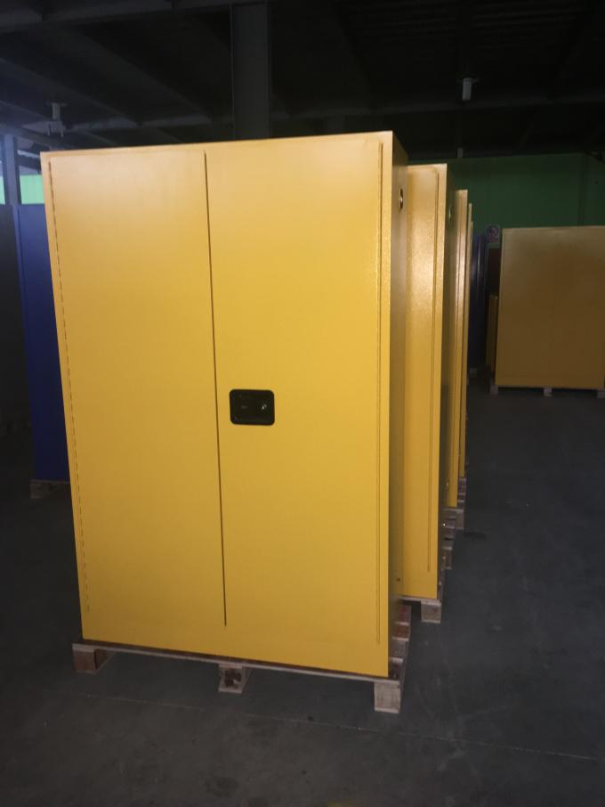 Yellow Flammable Safety Cainets , Industry Flame Proof Storage Cabinets 45 gallon170Litre