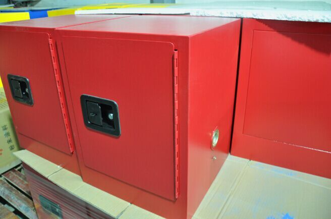 Flammable Countertop Cabinet, 4 gallon red manual