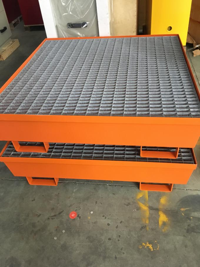 Steel Spill Decks Containment Pallets 2 Drums / 4 Drums Removable With Drain