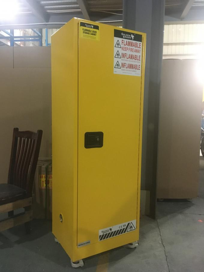 Flammable Chemical Safety Storage Cabinets 22 Gallon With Single Door