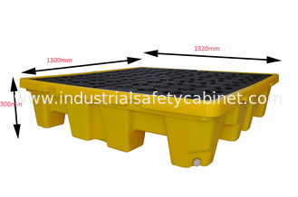 China Oil Tank Storage HDPE Spill Containment Pallets For 4pcs 200L Drums Stoarge supplier