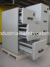 China Grey Steel 4 Drawers Fire Resistant Filing Cabinets For Valuable Records / Documents supplier