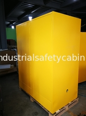 China 90 GAL Grounding Hazardous Waste Storage Cabinets For Flammable Materials Goods supplier
