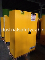China Yellow Flammable Safety Cainets , Industry Flame Proof Storage Cabinets 45 gallon170Litre supplier