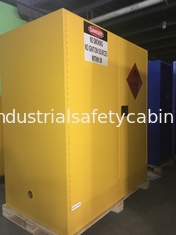 China Steel Flammable Safety Cabinets With Self Latch Sliding Door For Gasoline / Pesticide supplier
