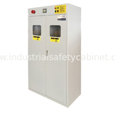 China Full Steel Flammable Gas Cylinder Drum Storage Cabinets , Lab Drum Gas Cyliner Storage Cabinets supplier