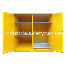 China Flammable Drum Storage Cabinets , Gasoline Storage Cabinets 2 Door For Oil Tank Drum supplier