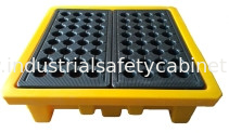 China Leak Proof 4 Drum Spill Containment Pallet Spill Platform For Drum Storage supplier