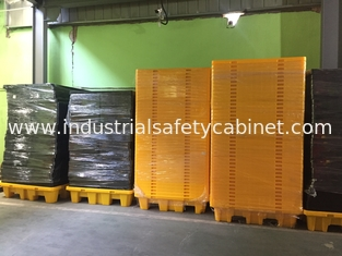 China Highly Visible IBC Spill Containment Pallet HDPE For Chemical Oil Tank supplier