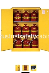 China Horizontal Petrol Drums Storage Cabinets Double Door For Storing 55 Gallon Drum supplier