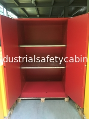 China 90 GAL Safety Fireproof Paint Storage Cabinets Dual Vents For Industrial / Chemical supplier