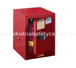 China Flammable Countertop Cabinet, 4 gallon red manual supplier