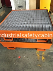 China Steel Spill Decks Containment Pallets 2 Drums / 4 Drums Removable With Drain supplier