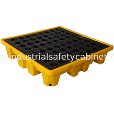 China HDPE Oil Drum Spill Containment Pallet  , PE 4 Drum Spill Containment Platform supplier