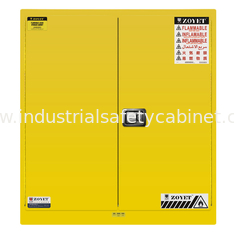 China Venting Flammable Safety Cabinets , Chemical Storage Containers Double Doors supplier