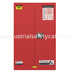 Red Flammable Paint Storage Cabinets Adjustable Shelf For Chemical Hazardous