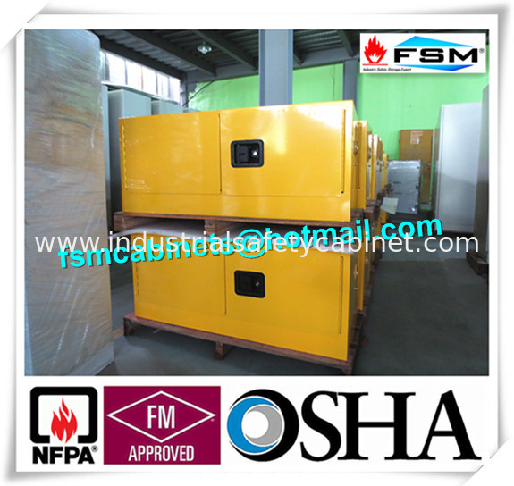 China Steel Flammable Safety Cabinets With Double Doors For Hazardous  Material Storage Supplier