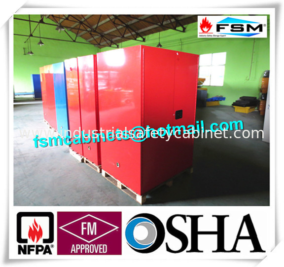 China Red Flammable Paint Storage Cabinets Adjustable Shelf For Chemical  Hazardous Supplier