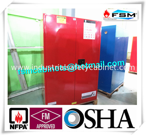 90 GAL Safety Fireproof Paint Storage Cabinets Dual Vents For Industrial /  Chemical