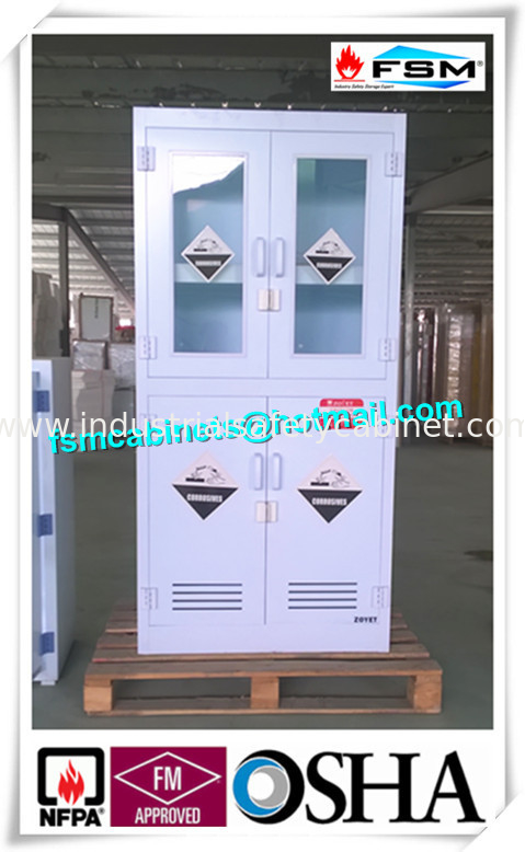 China Polypropylene Hazardous Material Storage Cabinets With Window For  Laboratory / Chemical Supplier
