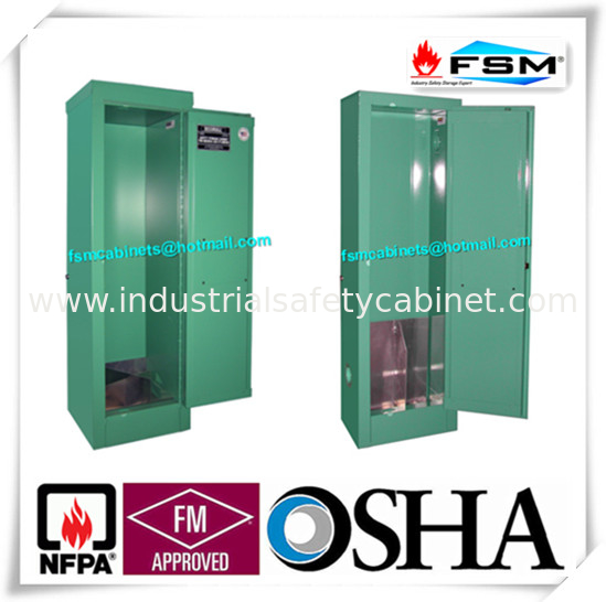 Green Lockable Drum Storage Containers Ventilated Single Cylinder