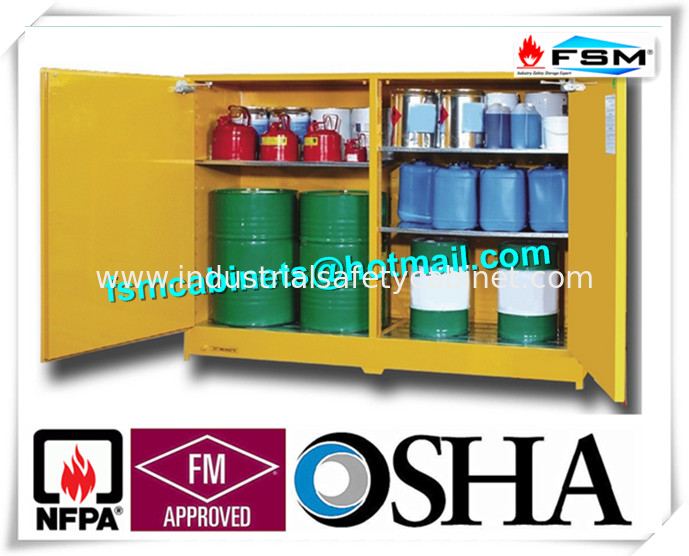 120 gallon yellow drum storage cabinets with removable roller for oil paint - Paint Storage Cabinets