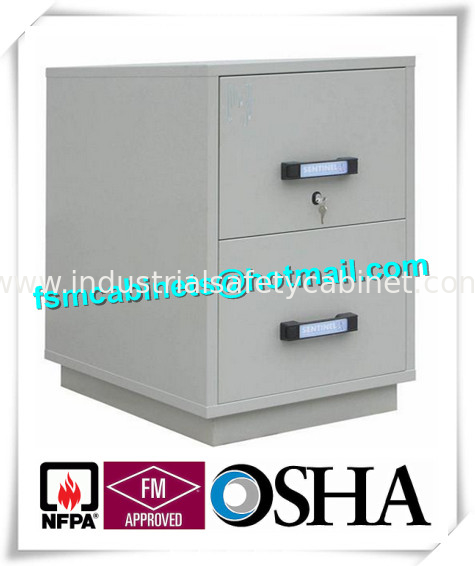 China Fire Resistant Filing Cabinets , 2 Drawer Fireproof File Cabinets For  Documents supplier