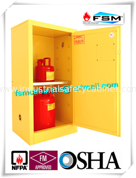 China Fireproof Steel Flammable Liquids Cabinet 15 Gallon For Hazmat  Storage Supplier