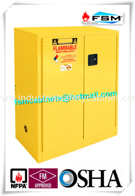 China Lockable Safety Storage Cabinets Adjustable Fireproof Vents For  Flammable Liquids Supplier
