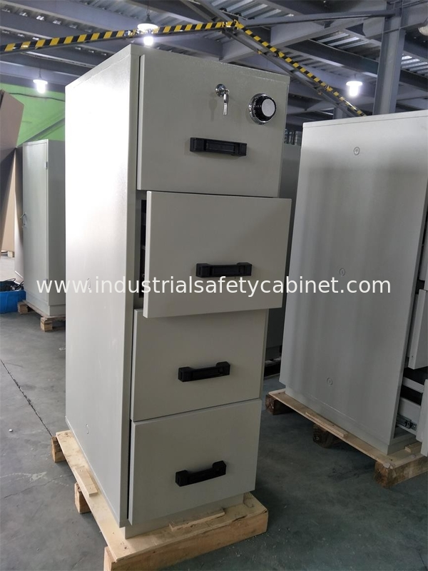 China Steel Fireproof And Waterproof File Cabinet With Drawers For Doents Supplier