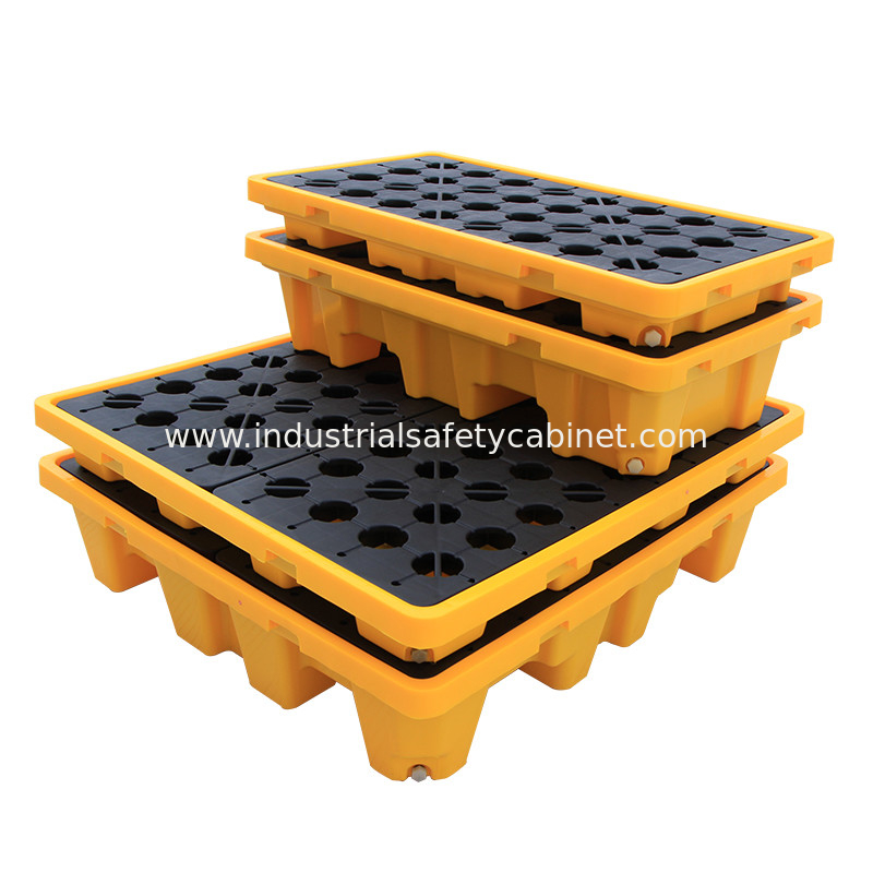 CE Drum Spill Containment Pallet for Chemical Storage , 2 Drum Tank