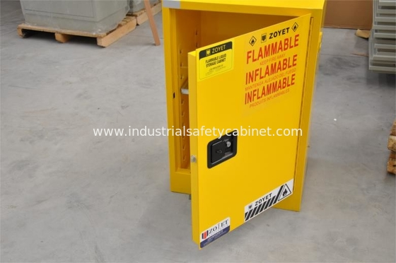 Yellow Fireproof Flammable Safety Cabinets 12 Gal / 45L With Adjustable Leveling Feet