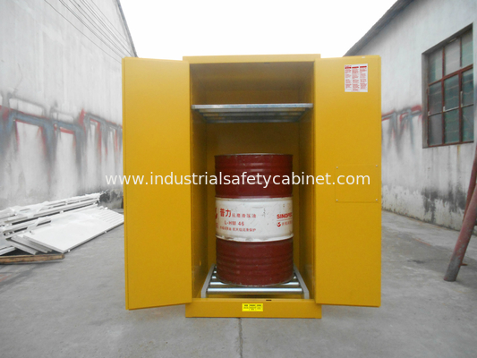 Vertical Oil Drum Storage Cabinets , Flammable Safety Cabinet 75 Gallon