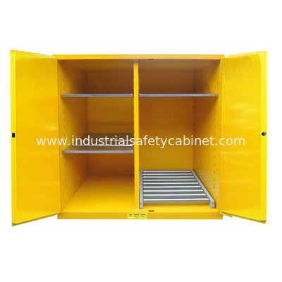 ZOYET Flammable Drum Storage Cabinets , Gasoline Storage Cabinets 2 Door For Oil Tank Drum