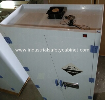 White Chemical Hazardous Storage Cupboards For Storing Strongly Corrosive Materials