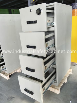 Safety Fire Rated File Cabinets With Separately Mechanical Lock For Laboratory