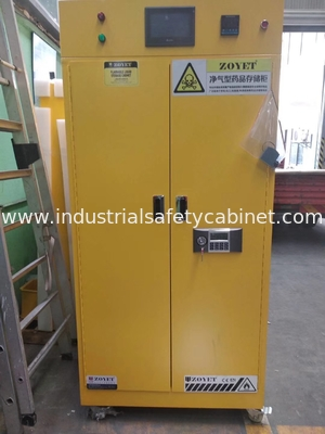 Flame Proof Hazmat Storage Cabinets Single Door For Cylinder / Paint / Chemical Acid Alkai resistant