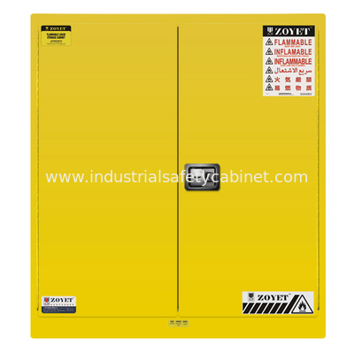 China ZOYET Venting Flammable Safety Cabinets , Chemical Storage Containers Double Doors factory