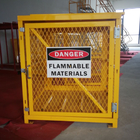 "71-3/4"" X 60"" X 30"" Assembled Yellow Industrial Safety Cabinets Gas Cage Cylinder Storage"