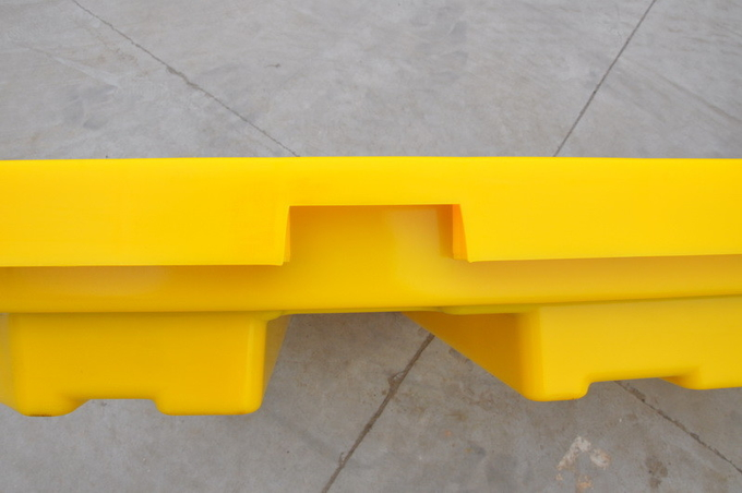 HDPE Oil Drum Spill Containment Pallet  , PE 4 Drum Spill Containment Platform