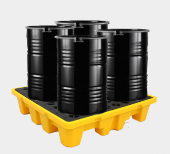 Oil Tank Storage HDPE Spill Containment Pallets For 4pcs 200L Drums Stoarge